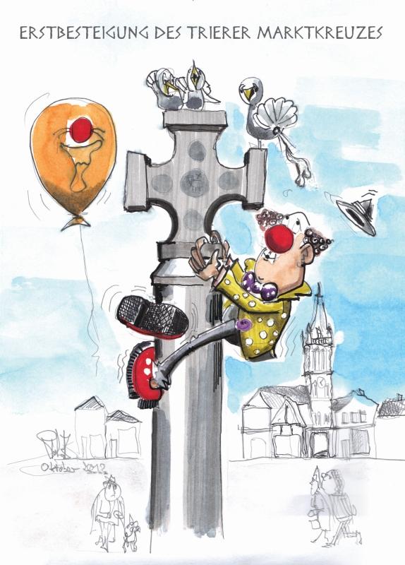 Erstbesteigung des Marktkreuzes
